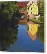 Pegnitz River In Nuremberg Wood Print