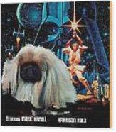Pekingese Art - Star Wars Movie Poster Wood Print