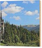 Peles Castle Wood Print
