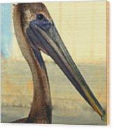 Pelican Bill Wood Print