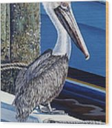 Pelican Blues Wood Print