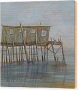 Pelican House In Cedar Kay Wood Print
