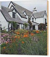 Pelican Inn Garden Wood Print