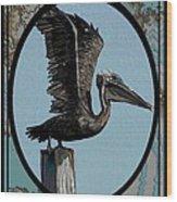 Pelican Paradise Wood Print