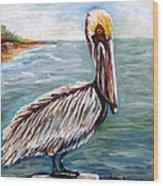 Pelican Pointe Wood Print