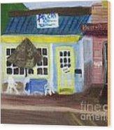 Pelican Restaurant On Lake Ave In Lake Worth Florida Wood Print
