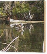 Pelican Temper Wood Print