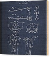 Pelvic Measuring Device Patent From 1963 - Navy Blue Wood Print
