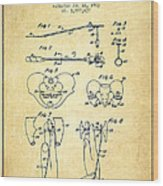 Pelvic Measuring Device Patent From 1963 - Vintage Wood Print