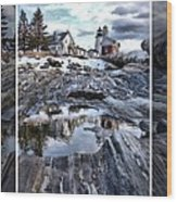 Pemaquid Lighthouse Wood Print by Victoria  Dauphinee