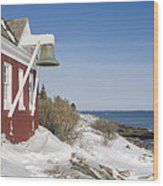 Pemaquid Point Bell House On The Maine Coast Wood Print