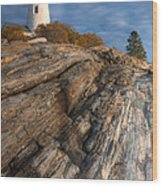 Pemaquid Point Light II Wood Print