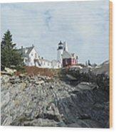 Pemaquid Point Lighthouse Wood Print by Joseph Rennie