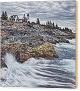 Pemaquid Point Lighthouse Wood Print