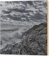Pemaquid Seas Wood Print