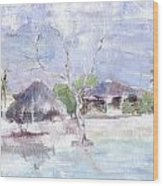 Pemba Bush Camp Wood Print