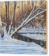 Peme Bon Won River Fly By Wood Print