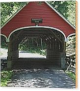 Pemigewasset River Bridge Wood Print
