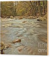 Pemigewasset River Rushing By Wood Print