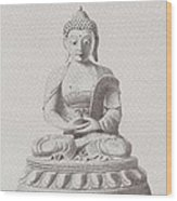 Pen And Ink Buddha Wood Print