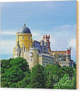 Pena Palace In Sintra Wood Print