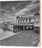Penarth Pier 1 Mono Wood Print