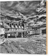 Penarth Pier 6 Monochrome Wood Print