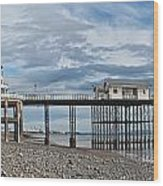 Penarth Pier Panorama 1 Wood Print