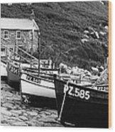 Penberth Cove Wood Print