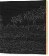 Pencil - Water Rippling In The Coastal Lagoon Wood Print