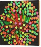 Pencil Blossom Wood Print