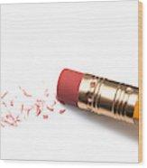 Pencil Eraser Wood Print