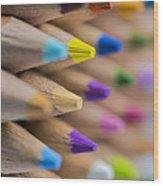 Pencils Colored Macro 5 Wood Print