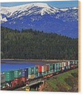 Pend Oreille Freight Wood Print
