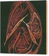 Pendant Fractal Paisley Wood Print