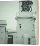 Pendeen Lighthouse Wood Print