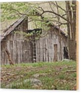 Pendleton County Barn Wood Print by Randy Bodkins