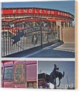 Pendleton Round-up Wood Print by David Bearden