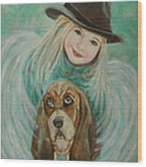 Penelope And Charlie Little Angel Of Faith And Loyalty Wood Print