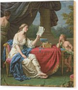 Penelope Reading A Letter From Odysseus Wood Print