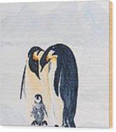 Penguin Family Wood Print