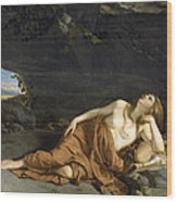 Penitent Mary Magdalene Wood Print