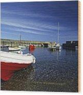 Pennan Harbour Scotland Wood Print