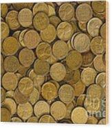 Pennies - 3 Wood Print