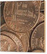Pennies 8 Wood Print
