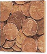 Pennies Wood Print