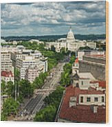 Pennsylvania Avenue Leading Up To The Wood Print