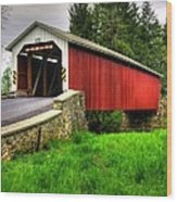 Pennsylvania Country Roads - Forry's Mill Covered Bridge - Lancaster County Spring No. 2 Wood Print