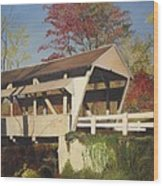 Pennsylvania Covered Bridge Wood Print