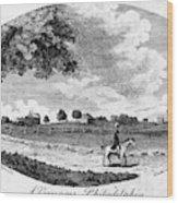 Pennsylvania Farm, 1795 Wood Print